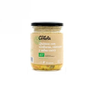Quinoa con verduras, cúrcuma y curry, Carlota Organic
