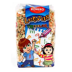 Letras Tricolor (Pasta Infantil), Pastas Alimenticias Romero